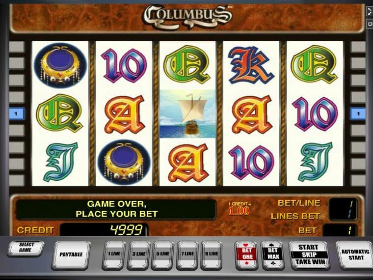 Columbus slot machine free zynga online gambling