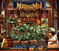 Big winning in free slot machine Mamma Mia!