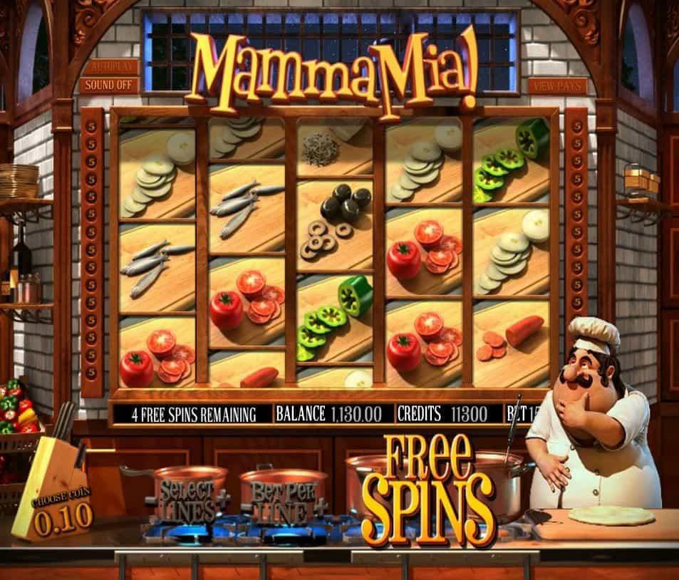 Free spins in slot machine