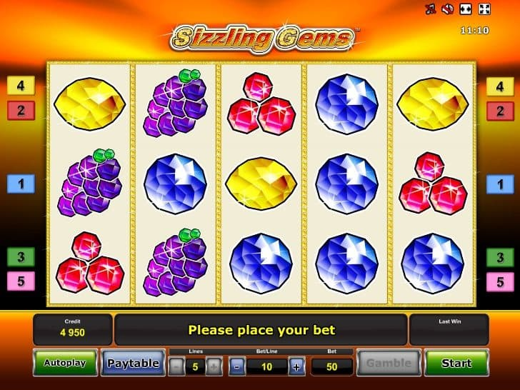 Online slot machine Sizzling Gems