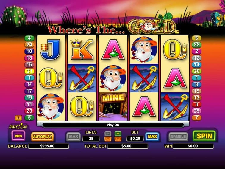 slot machine Where´s the Gold online