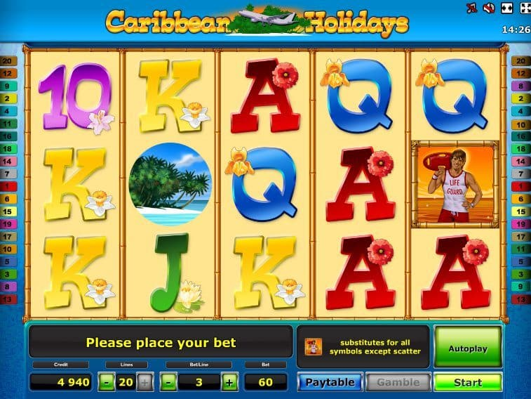 In addition to a unique multiplier, Caribbean Holidays is home to some of the largest free spins rounds out there, with up to 45 on offer – even three scatters will award a handy 25 spins.All prizes are doubled and you can add more spins to the total with more scatters during the round itself, making this a truly feature packed game where 3/5(2).