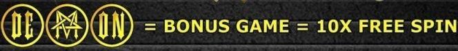 Bonus game from Demon Master casino free online slot