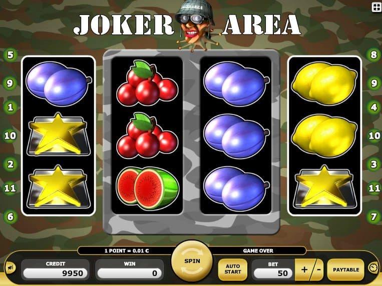 Casino slot machine Joker Area with no deposit