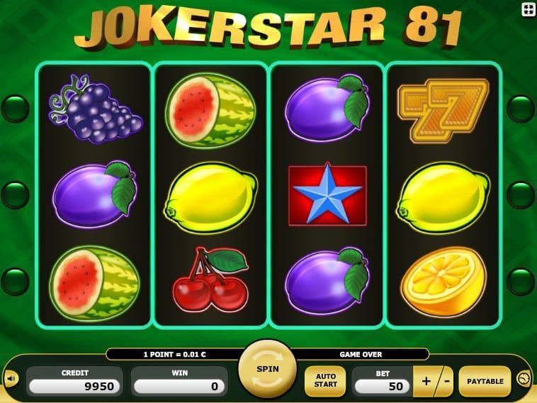 free online slot machine Jokerstar 81