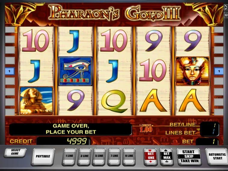 free online casino game Pharaoh´s Gold III free online