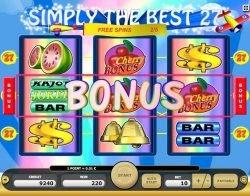 Simply the Best 27 online nyerőgépes játék - bónusz kiegészítők
