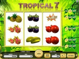 Slot machine Tropical 7 free online