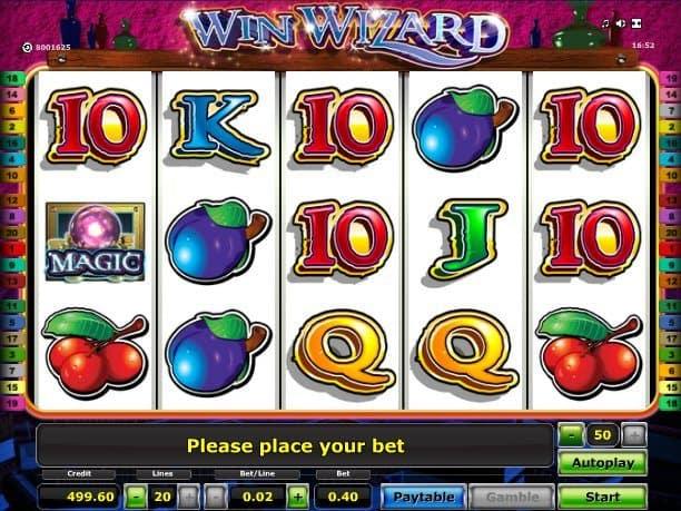 Win Wizards Slot Machine