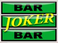 Kép a Joker Mania II nyerőgép Joker bar Vad szimbólumáról