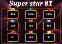 Darmowy automat do gier Super star 81- tabela wypłat