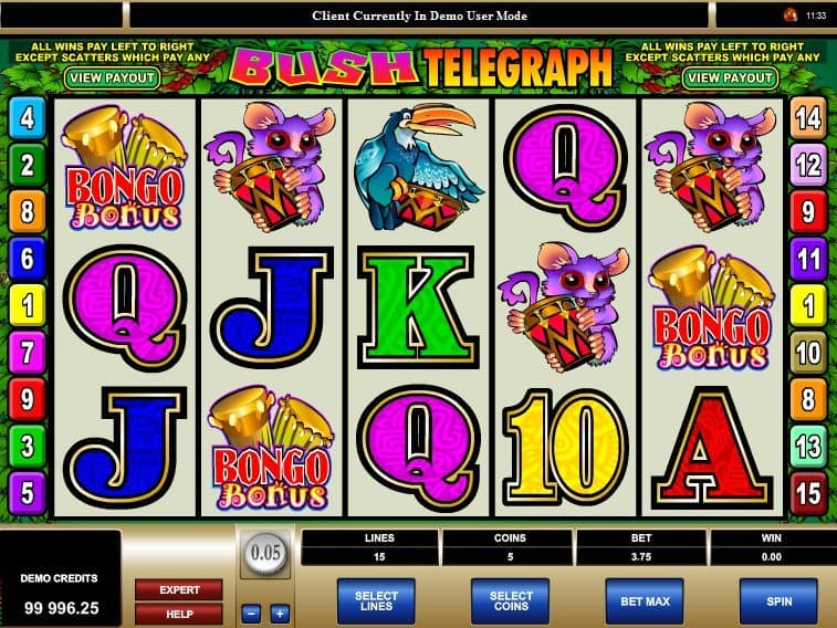 Bush Telegraph free online casino slot