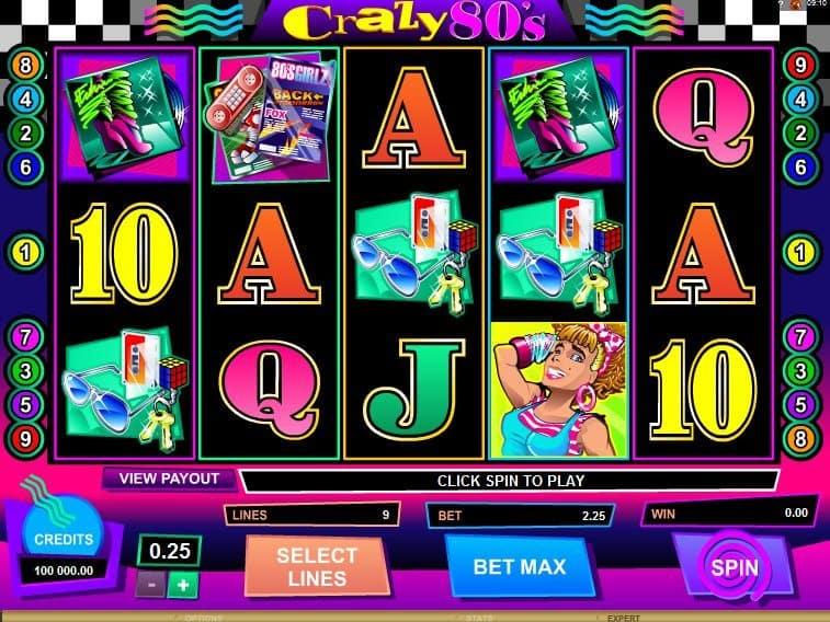 Crazy 80´s ™ Slot Machine - Play Free Online Game - Slotu.com