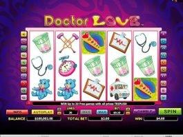 Casino game slot Doctor Love online