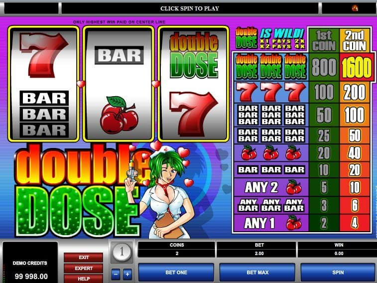 play free online slot machine Double Dose