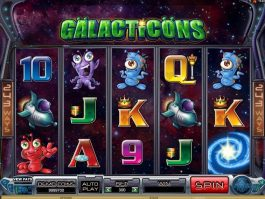 Casino slot machine Galacticons