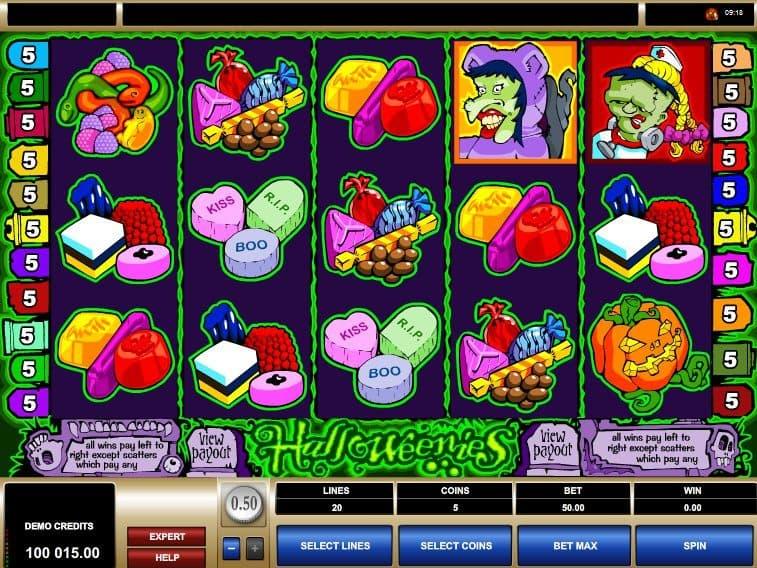 Casino game slot Halloweenies free online