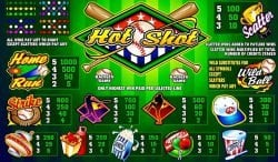 Таблица выплат – онлайн казино слот Hot Shot Microgaming