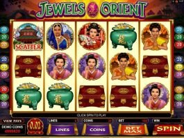 Free online slot machine Jewels of the Orient