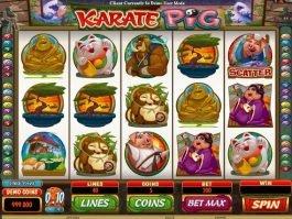 Karate Pig free online slot