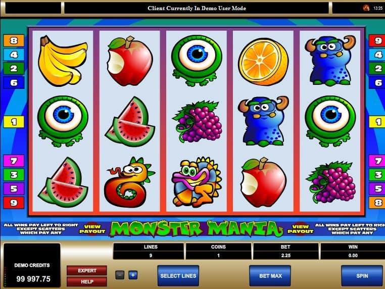 Play free slot Monster Mania online