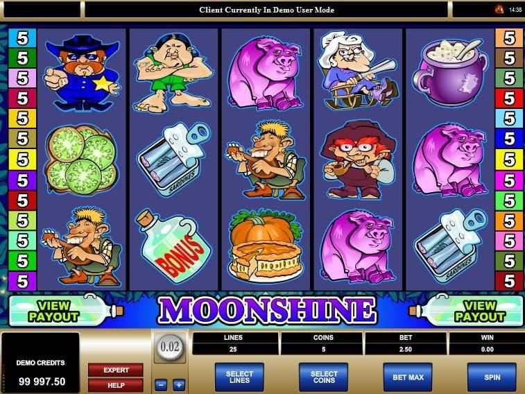 Moonshine free online slot