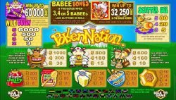 Payouts of casino slot game Pollen Nation free online