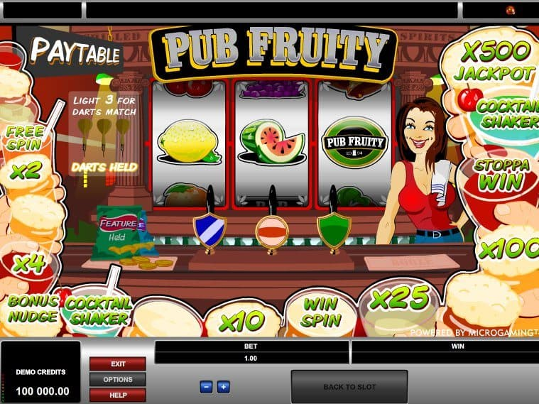 Casino game slot Pub Fruity free online