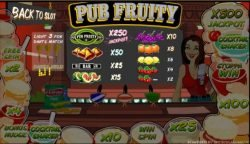 Online slot game Pub Fruity for free