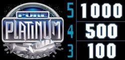 Wild from casino slot game Pure Platinum