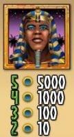 A Ramesses Riches ingyenes online nyerőgépes casino játék vad szimbóluma