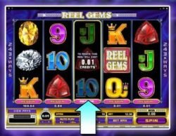 Respin feature from free slot Reel Gems