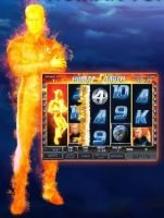 Free casino slot game Fantastic four - Human Torch Feature