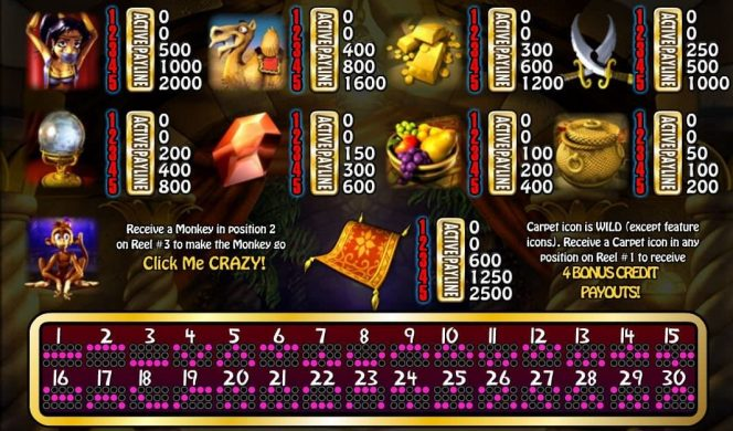 Picture from the slot machine Genie´s Fortune online
