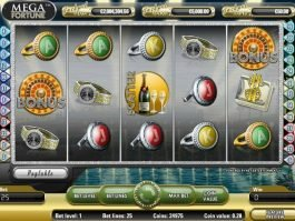 Slot casino game Mega Fortune free online
