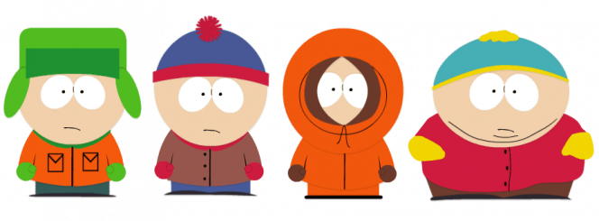 South Park online casino játék - Kyle, Stan, Kenny, Cartman