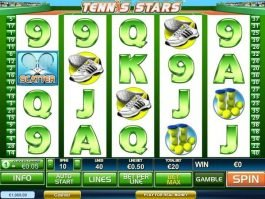Online slot game Tennis Stars no deposit