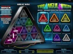 Winning in online free slot Triangulation