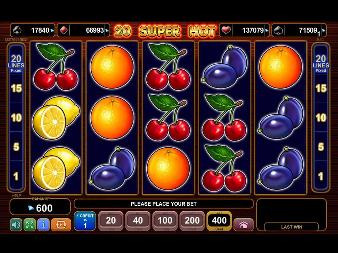 20 super hot casino online
