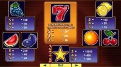 Tabel de câștiguri în jocul ca la aparate gratis online 20 Super Hot