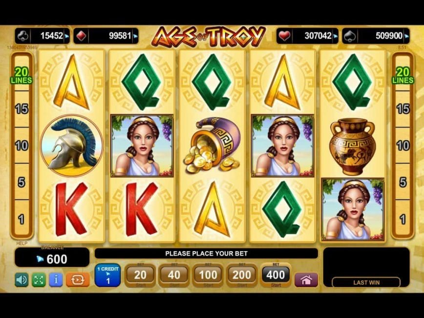 Age of Troy features five reels and 20 paylines, and offers the kind of gameplay we've come to expect from EGT: plenty of main game symbols paying out generously for matching three or more, scatters and wilds, a free spins bonus (featuring stacked wilds) and then /5(23).Çerkeş