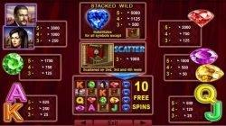 Kifizetési táblázat a Blue Heart online nyerőgépből
