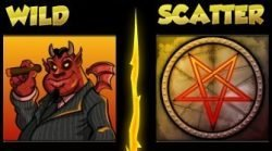 Wild and Scatter from online slot machine Devil's Delight online for free