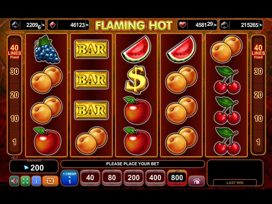free sizzling hot slot machine