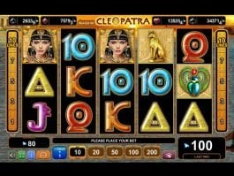 Play free online slot game Grace of Cleopatra