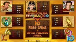 Free online slot machine Grace of Cleopatra