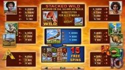 A Kangaroo Land online ingyenes nyerőgép kifizetési táblázata