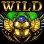 Wild în jocul de aparate gratis online Rise of Ra - Gândac scarabeu