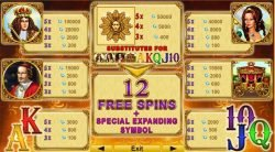 Casino free slot Versailles Gold online - paytable