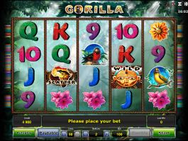 A picture of the casino slot game Gorilla